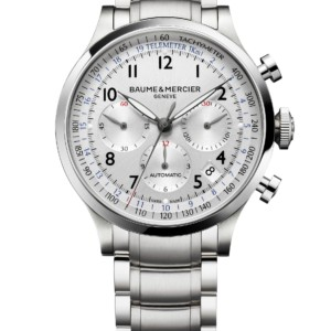 Watch Capeland steel chronograph watch. Men, automatic, round, 44mm