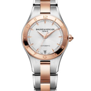 Watch Linea two-tone automatic watch. Ladies, round, 32mm, interchangeable strap