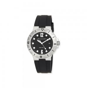 BVLGARI 41mm Stainless Steel Diagono SCUBA Watch, Black