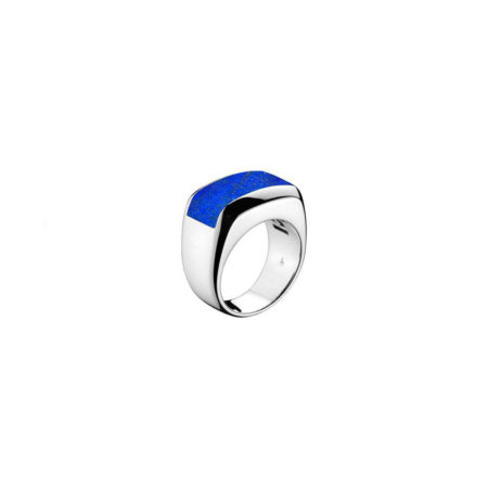 Men's Falco White Gold & Blue Lapis Ring